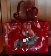 Hand Painted Dressage and Rider Purse