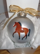 Thoroughbred Hand Painted Christmas Ornament