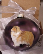 Collie - Rough - Hand Painted Christmas Ornament