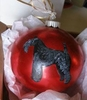 Kerry Blue Terrier Hand Painted Christmas Ornament