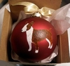 Miniature Bull Terrier Hand Painted Christmas Ornament