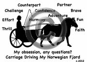 Norwegian Fjord Carriage Driving Obsession T-Shirt