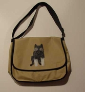 Keeshond Puppy Hand Painted Messenger Bag