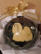 Lhasa Apso Hand Painted Christmas Ornament