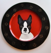 Boston Terrier Hand Painted Decorative Plate