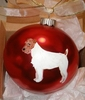 Parson Russell Terrier Hand Painted Christmas Ornament