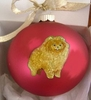 Pomeranian Hand Painted Christmas Ornament