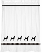 Basenji Shower Curtain