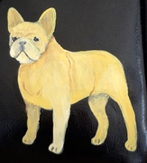 French Bulldog Hand Painted Purse