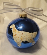 English Setter Hand Painted Christmas Ornament