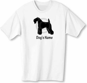 Kerry Blue Terrier T-Shirt Personalized with Dog's Name