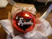 Basset Hound Hand Painted Christmas Ornament