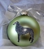 Scottish Deerhound Hand Painted Christmas Ornament