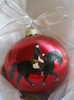 Dressage Hand Painted Christmas Ornament
