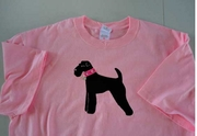 Airedale Terrier Tshirt with Sparkle Collar