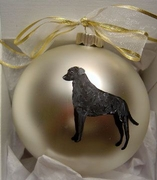 Curly-Coated Retriever Hand Painted Christmas Ornament