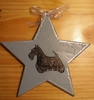 Scottish Terrier Hand Painted Tree Topper or Window Ornament