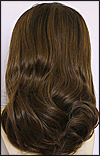 Silk top full lace wig, or Full lace wig, Virgin European hair, or virgin Brazilian hair, style VW-MBrown-Twavy-4T2B-18
