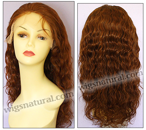 Silk Top Lace Front Wig, or lace front wig, Virgin European hair, virgin Brazilian hair, or virgin Asian hair, VWLF-Red-tightWavy-28-22