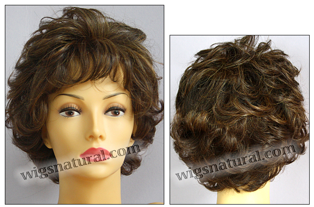 Envyhair wig Aubrey, Mono top hand-tied sides and back wig, color shown chocolate caramel