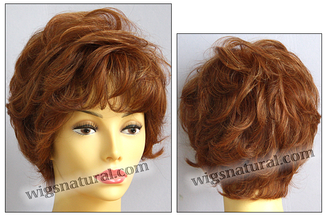 Envyhair wig Aubrey, Mono top hand-tied sides and back wig, color shown lighter red