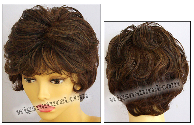 Envyhair wig Aubrey, Mono top hand-tied sides and back wig, color shown cinnamon raisin