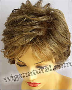 Envyhair wig Aubrey, Mono top hand-tied sides and back wig, color shown toasted sesame