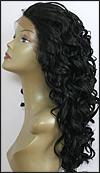 LACE WIG CH-TRICIA, Sister Chiffon Double Lace Front Wig, Remy fiber lace front wig, color 1B