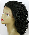 LACE WIG CH-RHEA, Sister Chiffon Double Lace Front Wig, Remy fiber lace front wig, color 1B