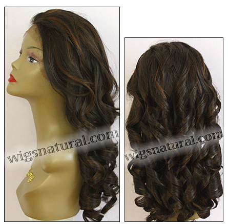 LACE WIG CH-ZARA, Sister Chiffon Double Lace Front Wig, Remy fiber lace front wig, color FS4/30