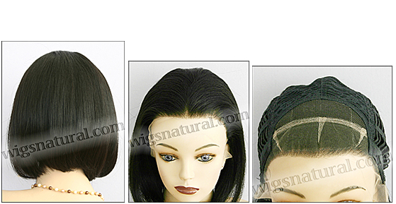 Lace Front Wig HRH LACE WIG 11, Hollywood Remy hair wig, color 1B