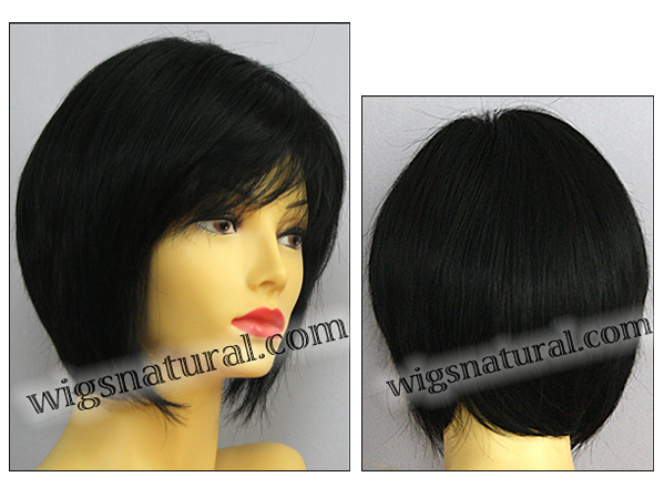 Envy open top wig Francesca, color shown black