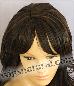 Human hair blend wig HB NEW YORK, SEPIA Love it wig collection, color MF1B/30