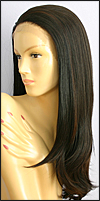 SEPIA Lace Front Wig Diamond, Heat-Resistant Futura Synthetic Fiber, color FS4/30