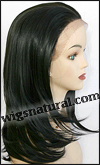 SEPIA Lace Front Wig Pearl, Heat-Resistant Futura Synthetic Fiber, color #1