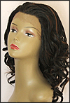 SEPIA Lace Front Wig COURTNEY, Heat-Resistant Synthetic Fiber, color FS1B/30