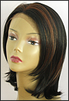 SEPIA Lace Front Wig OMEGA, Heat-Resistant Synthetic Fiber, color FS1B/30