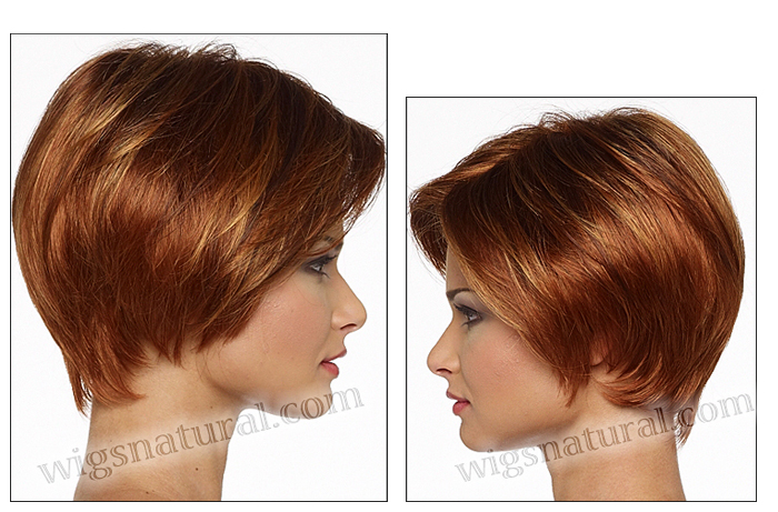 Envy lace front wig Denise, color shown lighter red