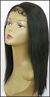 Lace Front Wig HRH-LACE WIG BRAZILIAN, Hollywood Remy Human Hair wig, color 1B