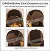 Origins Wig Cap Construction - Hand-tied Lace Front, machine-made back