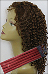 "Tight Curl Hair Style - permed with 7/16"" (1.1cm) diameter bendy rollers"