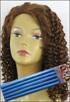 "Very Curly Hair Style - Spiral Curl permed with 9/16"" (1.4cm) diameter bendy rollers"