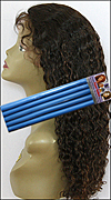 "Very Curly Hair Style - Small Loose Sections permed with 9/16"" (1.4cm) diameter bendy rollers"