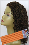 "Curly Hair Style - permed with 5/8"" (1.60cm) diameter bendy rollers"