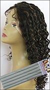 "Curly Hair Style - permed with 3/4"" (2.0cm) diameter bendy rollers"