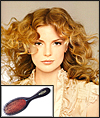 Brush Spiraling Curls into Loose Curly Waves Style - with boar-bristle brush