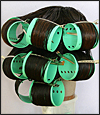 "Straighten Curls and Waves of Human Hair - with 3"" Diameter Super Jumbo Rollers"