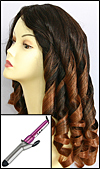 "Wavy Curl Hairstyle - with 1 ¼"" Barrel Curly Iron"