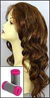 "Re-set jumbo curls with jumbo hot rollers (1 1/4"" diameter)"