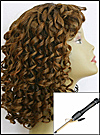 "Tightest Spiral Curls - with a ½"" barrel (1.5 cm diameter) Curling Iron"